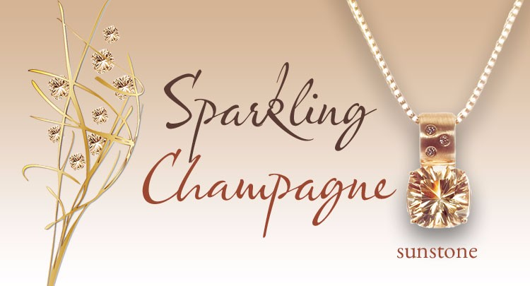 Champagne Oregon Sunstone Jewelry Designs by Karla Proud