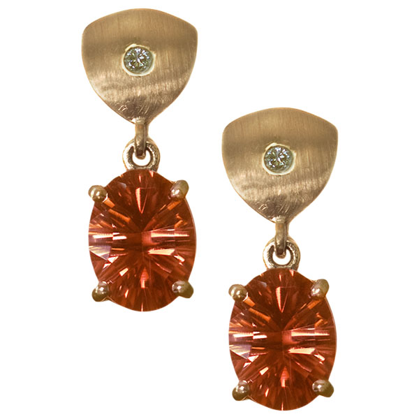 Red Oregon Sunstone Jewelry Designs by Karla Proud
